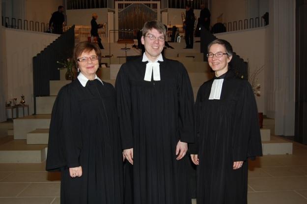 Dekanin Dr. Marlene Schwöbel-Hug, Pfarrer Dr. Gunnar Garleff, Pfarrerin Monika Hautzinger.
