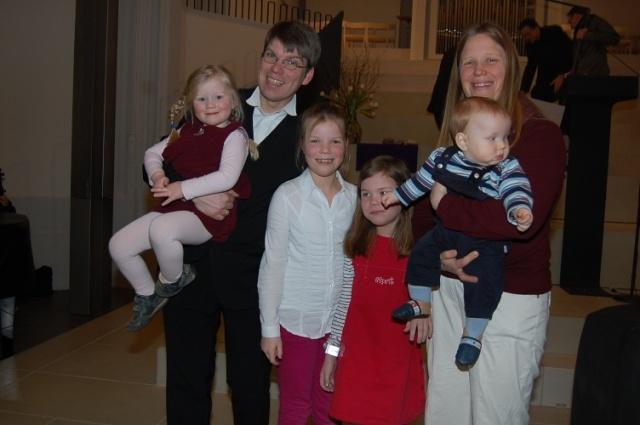 Gunnar Garleff mit seiner Frau Verena und den Kindern Annalena, Johanna, Amelie und Benjamin