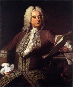 Georg Friedrich Händel, porträtiert von dem britischen Maler Thomas Hudson (1701-1779)